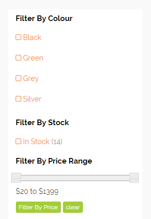 category filters